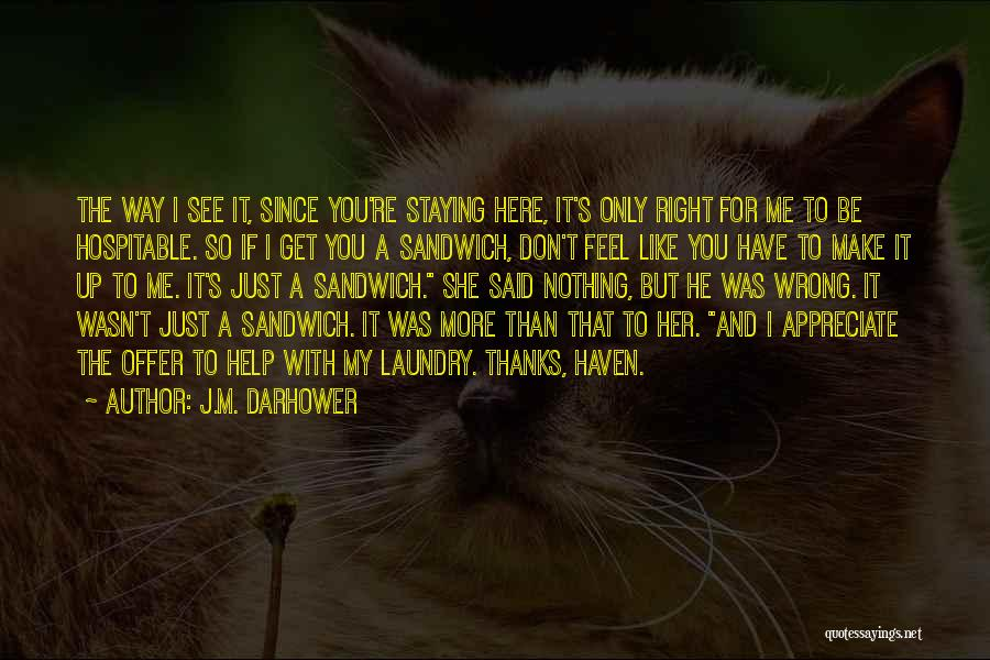 I'm Just Nothing To You Quotes By J.M. Darhower