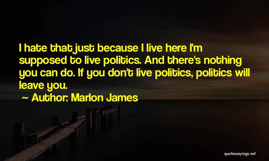 I'm Just Nothing To You Quotes By Marlon James