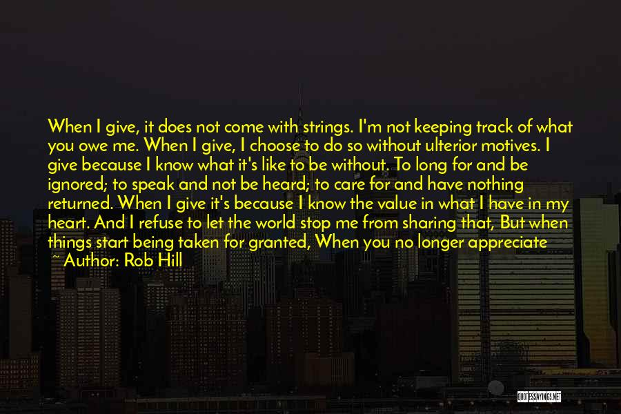 I'm Just Nothing To You Quotes By Rob Hill