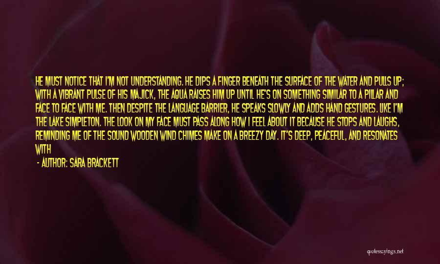 I'm Like A Wind Quotes By Sara Brackett