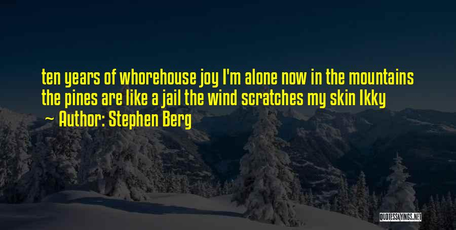 I'm Like A Wind Quotes By Stephen Berg