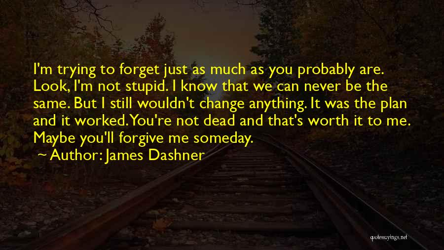 I'm Never Worth It Quotes By James Dashner