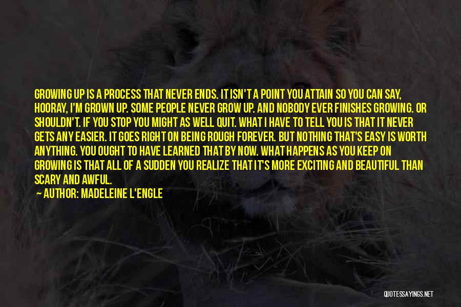 I'm Never Worth It Quotes By Madeleine L'Engle