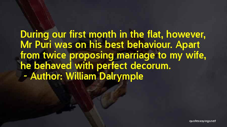 I'm Not A Perfect Wife Quotes By William Dalrymple