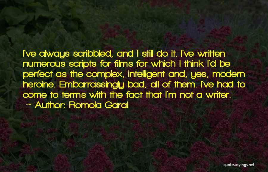 I'm Not Always Perfect Quotes By Romola Garai