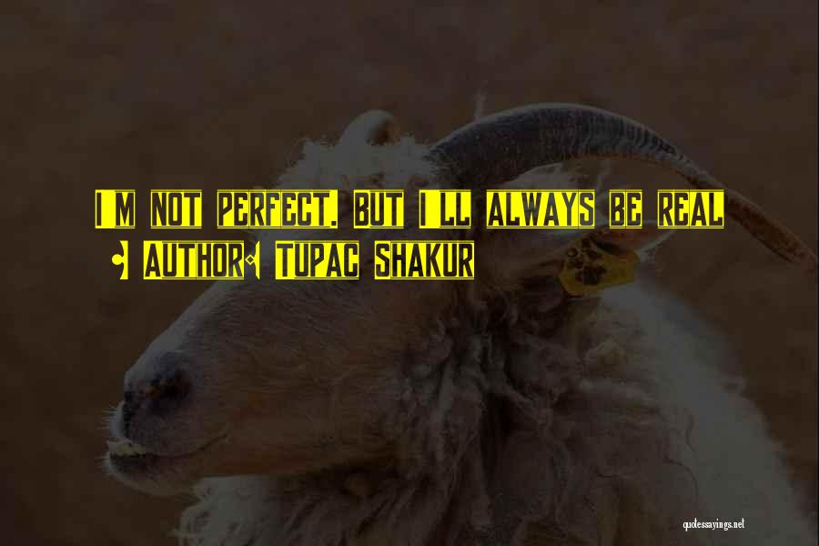 I'm Not Always Perfect Quotes By Tupac Shakur