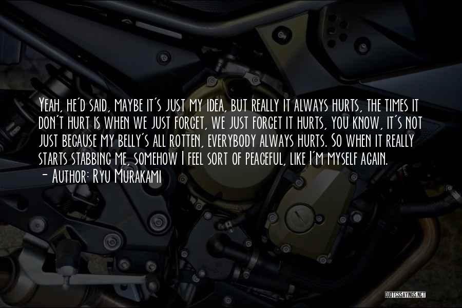 I'm Not Hurt Quotes By Ryu Murakami