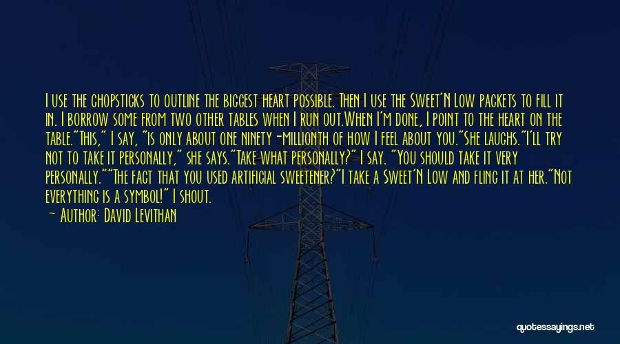 I'm Not The Only One You Love Quotes By David Levithan