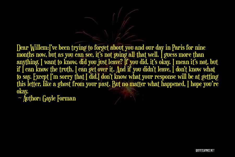 I'm Sorry For What I Did Quotes By Gayle Forman