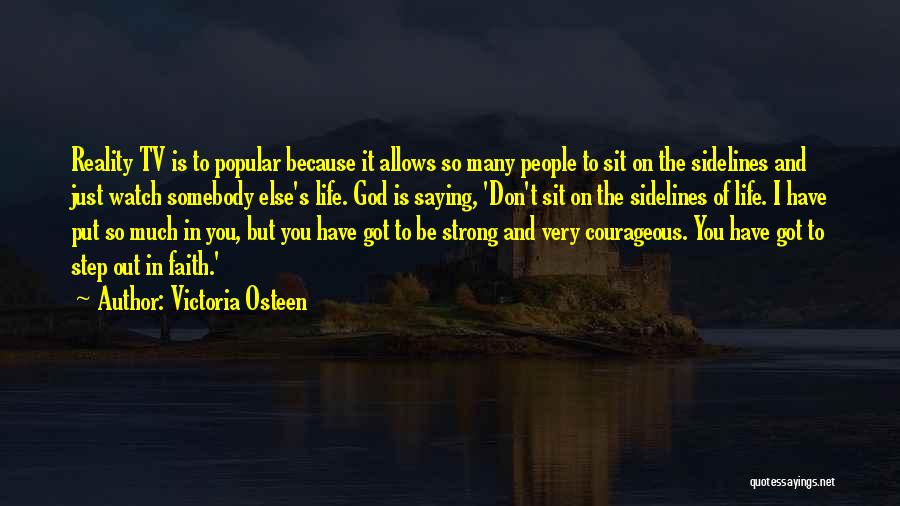 I'm Strong Because Of You Quotes By Victoria Osteen