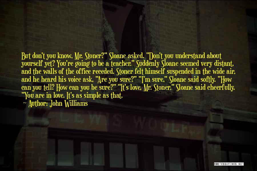 I'm Sure I Love You Quotes By John Williams
