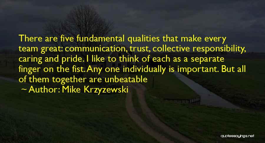 I'm Unbeatable Quotes By Mike Krzyzewski