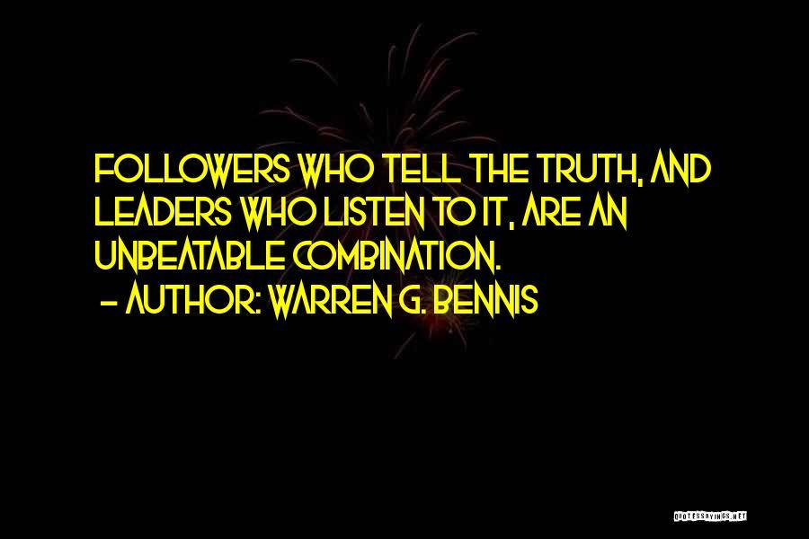 I'm Unbeatable Quotes By Warren G. Bennis