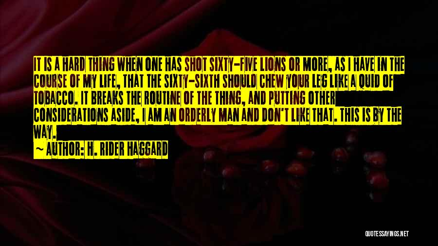 I'm Your Rider Quotes By H. Rider Haggard