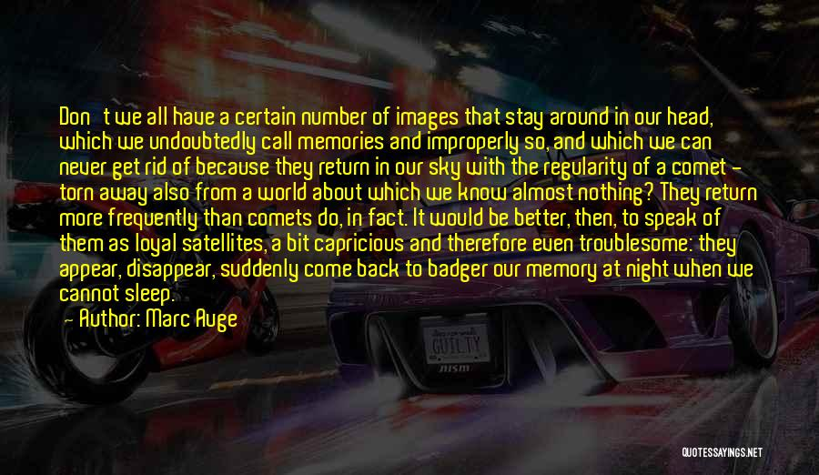 Images Of Night Sky With Quotes By Marc Auge