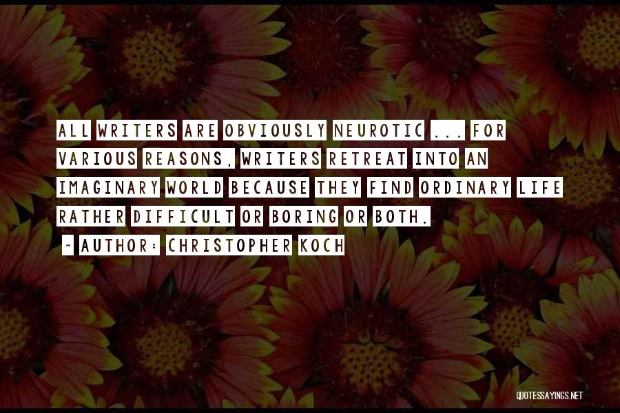 Imaginary World Quotes By Christopher Koch