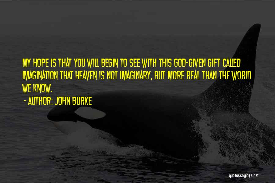 Imaginary World Quotes By John Burke