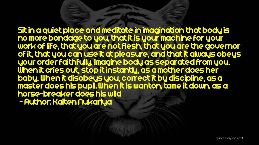 Imagine A Place Quotes By Kaiten Nukariya