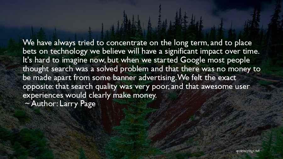 Imagine A Place Quotes By Larry Page