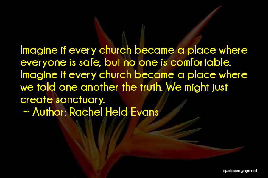 Imagine A Place Quotes By Rachel Held Evans