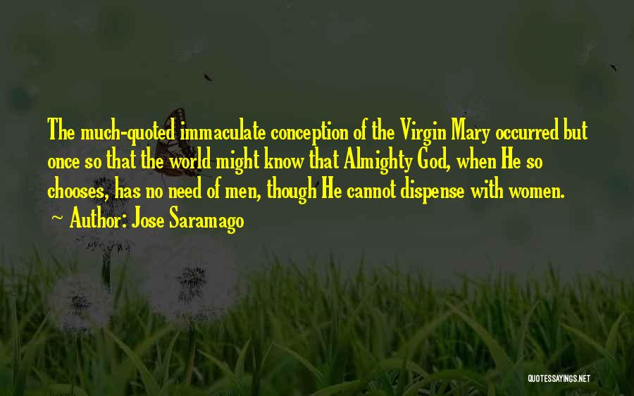 Immaculate Conception Quotes By Jose Saramago