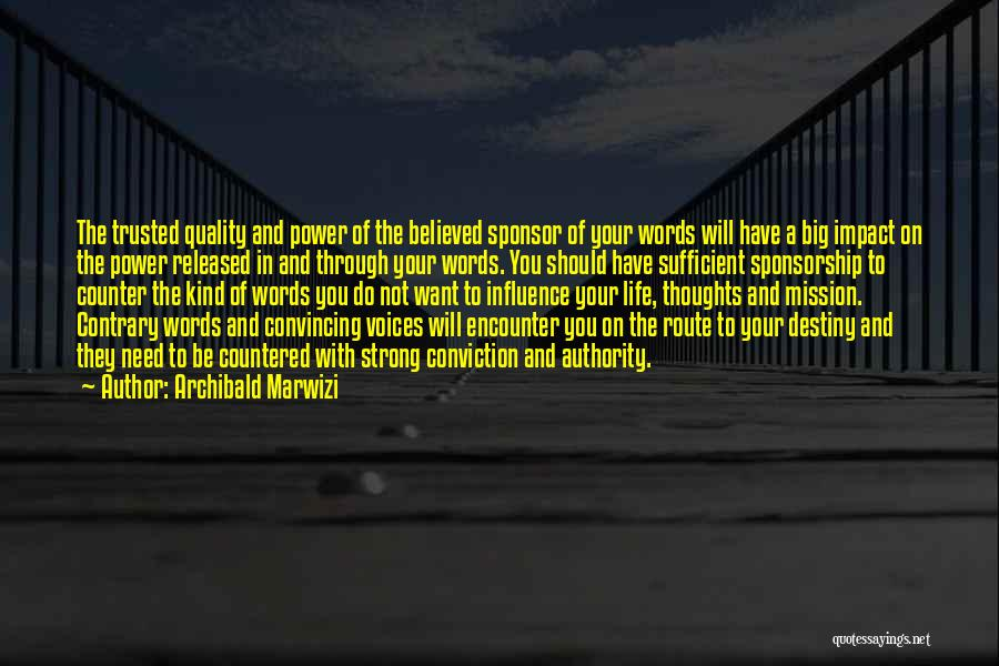 Impact On Inspirational Quotes By Archibald Marwizi