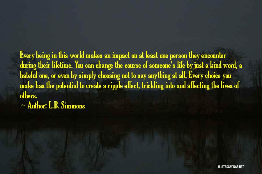 Impact On Inspirational Quotes By L.B. Simmons