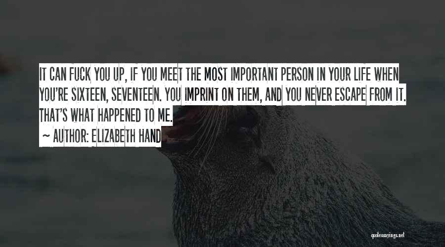 Important Person In Your Life Quotes By Elizabeth Hand