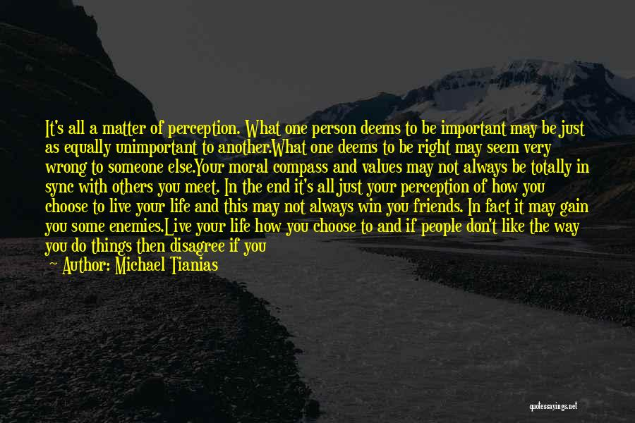 Important Person In Your Life Quotes By Michael Tianias