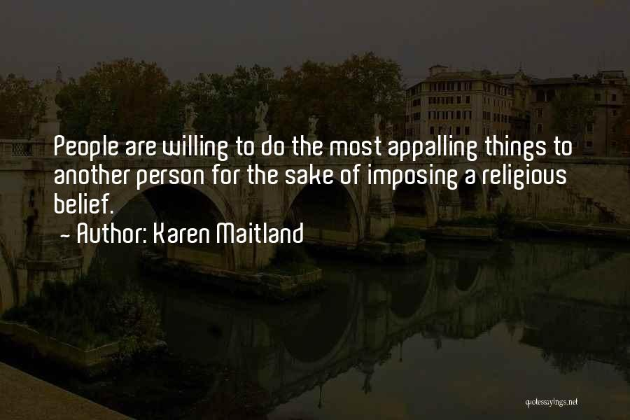 Imposing Quotes By Karen Maitland