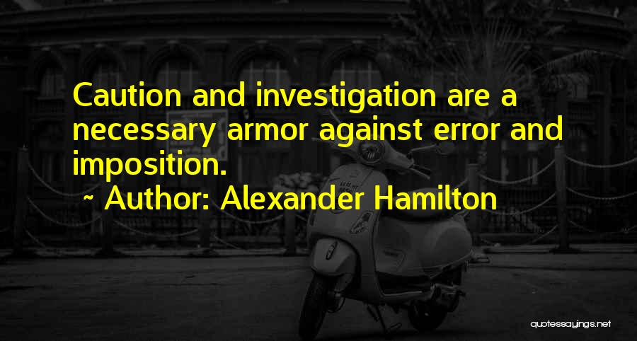 Imposition Quotes By Alexander Hamilton