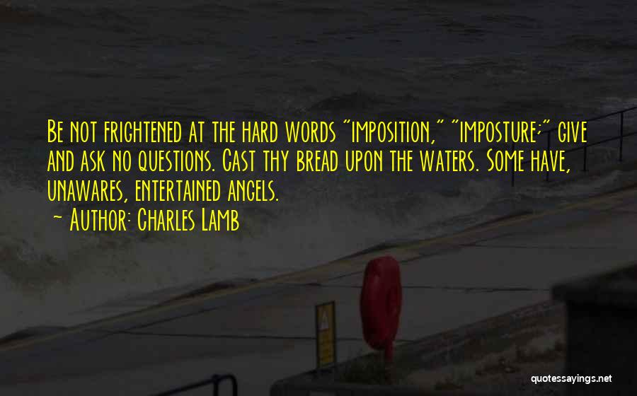 Imposition Quotes By Charles Lamb