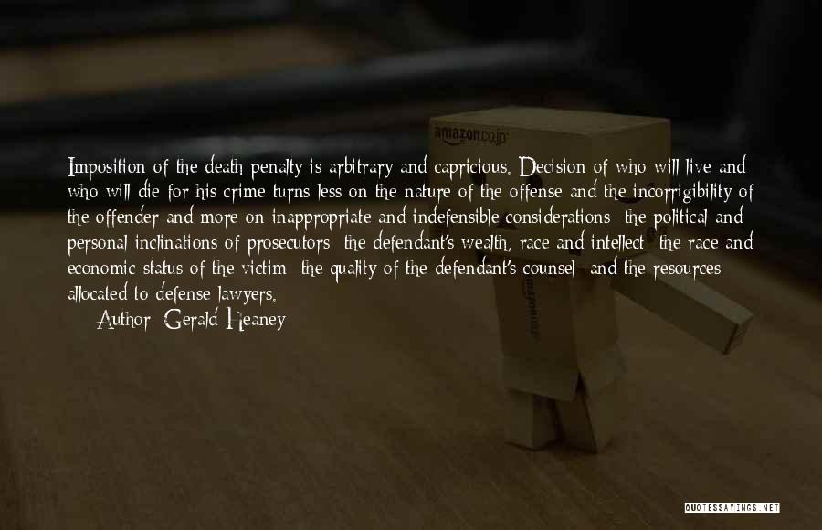 Imposition Quotes By Gerald Heaney
