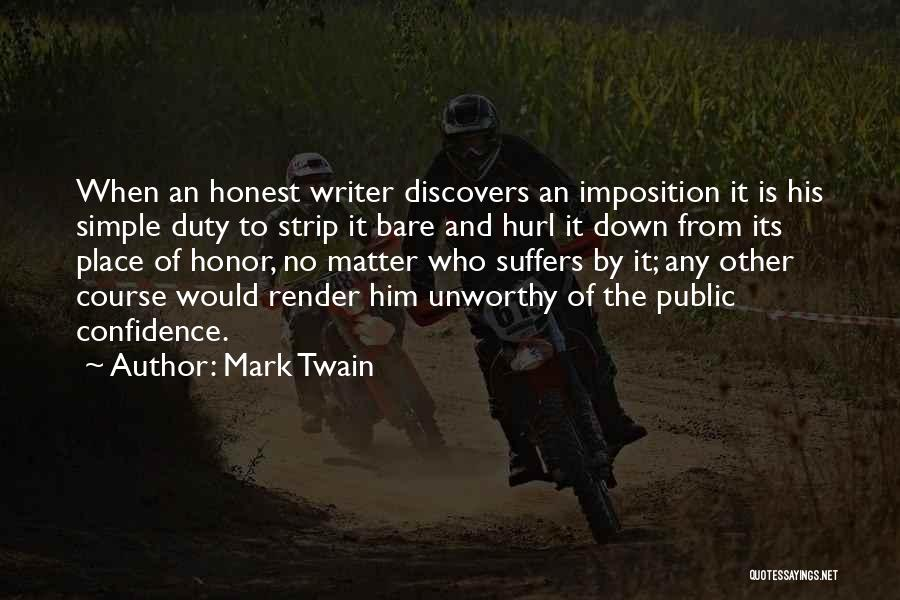 Imposition Quotes By Mark Twain