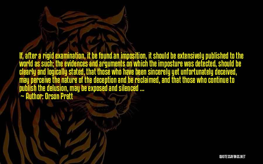 Imposition Quotes By Orson Pratt
