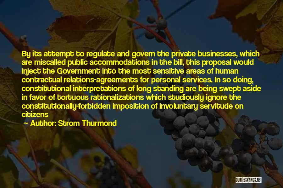 Imposition Quotes By Strom Thurmond