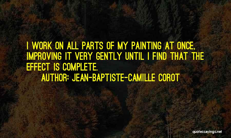 Improving Your Work Quotes By Jean-Baptiste-Camille Corot