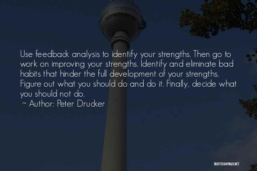Improving Your Work Quotes By Peter Drucker