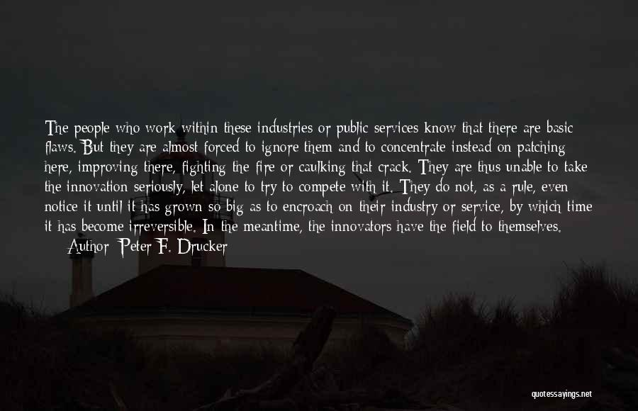 Improving Your Work Quotes By Peter F. Drucker