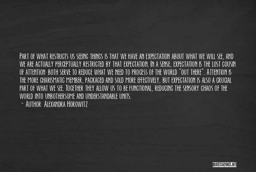In A World Of Chaos Quotes By Alexandra Horowitz