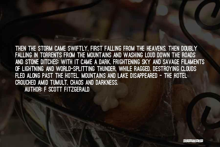 In A World Of Chaos Quotes By F Scott Fitzgerald