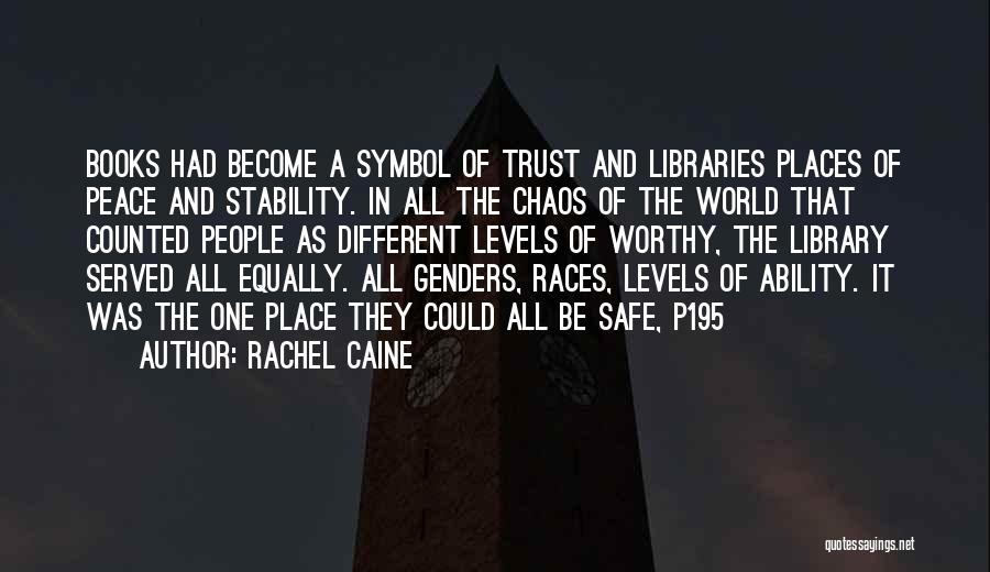 In A World Of Chaos Quotes By Rachel Caine