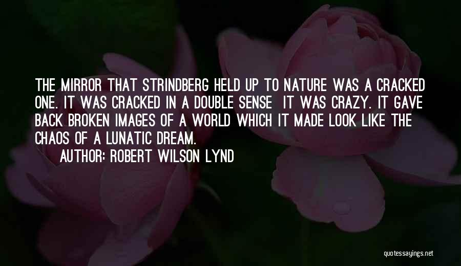 In A World Of Chaos Quotes By Robert Wilson Lynd