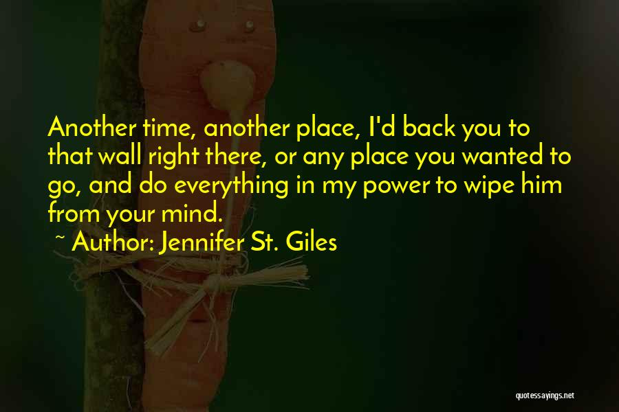 In Another Time And Place Quotes By Jennifer St. Giles