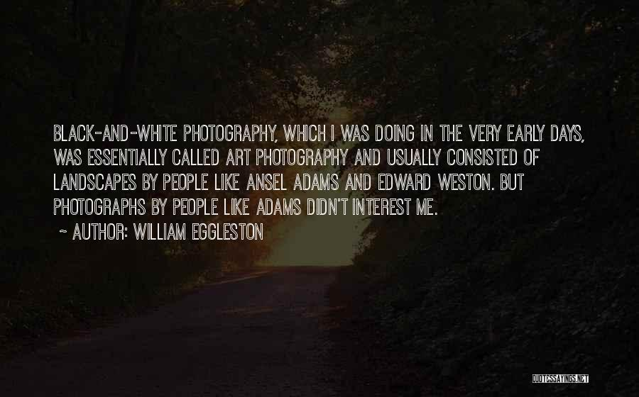 In Black And White Quotes By William Eggleston