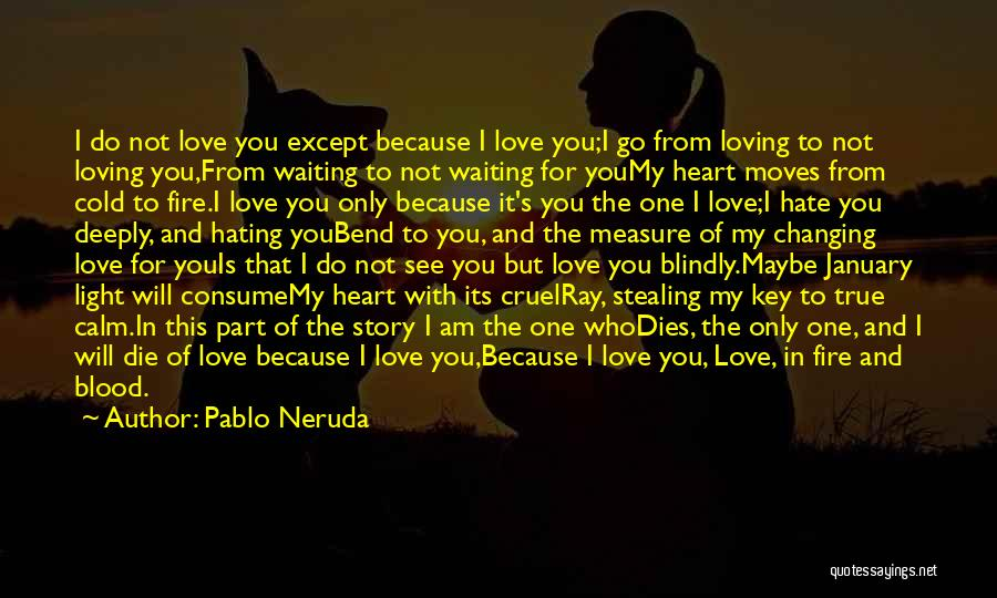 In Cold Blood Love Quotes By Pablo Neruda