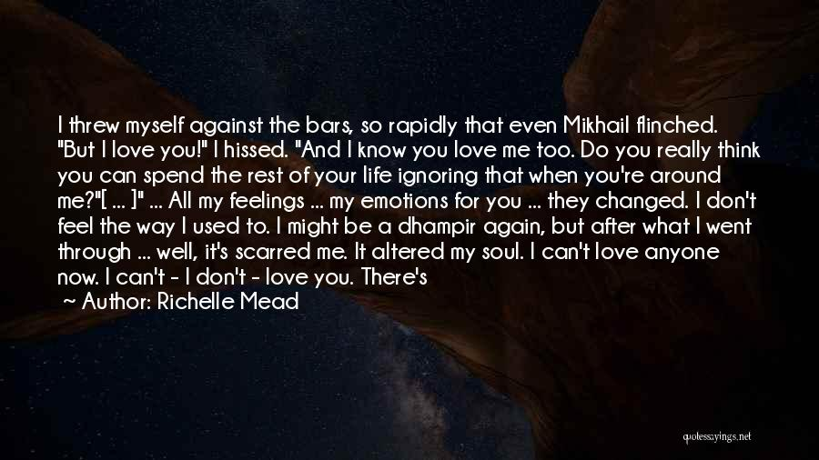 In Cold Blood Love Quotes By Richelle Mead