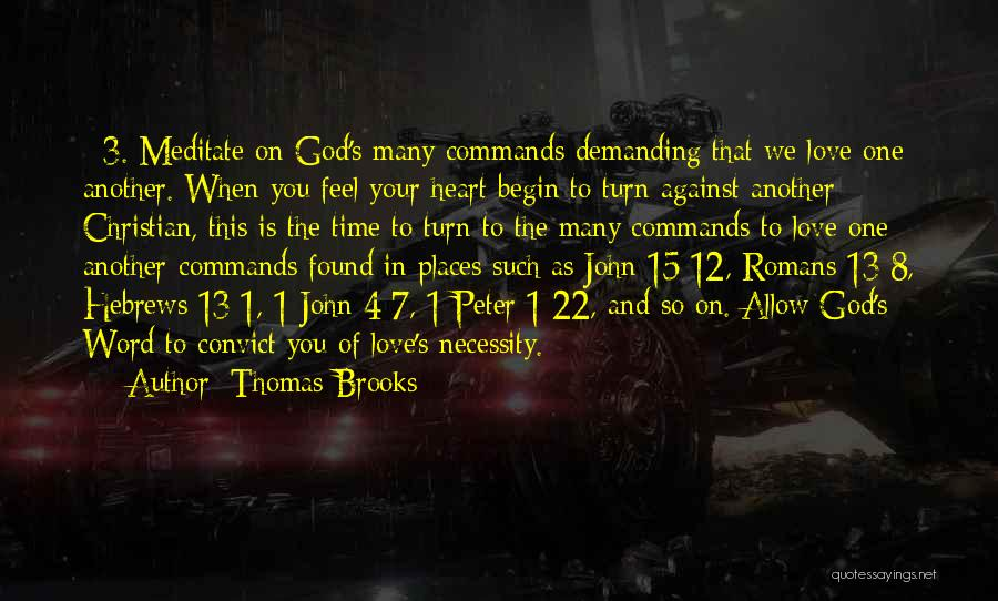 In God's Time Love Quotes By Thomas Brooks