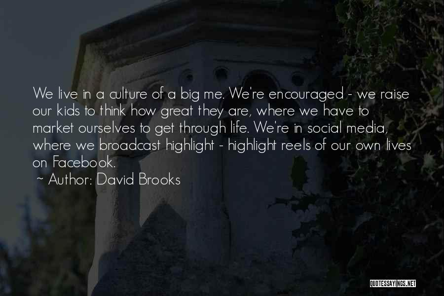 In Life Facebook Quotes By David Brooks