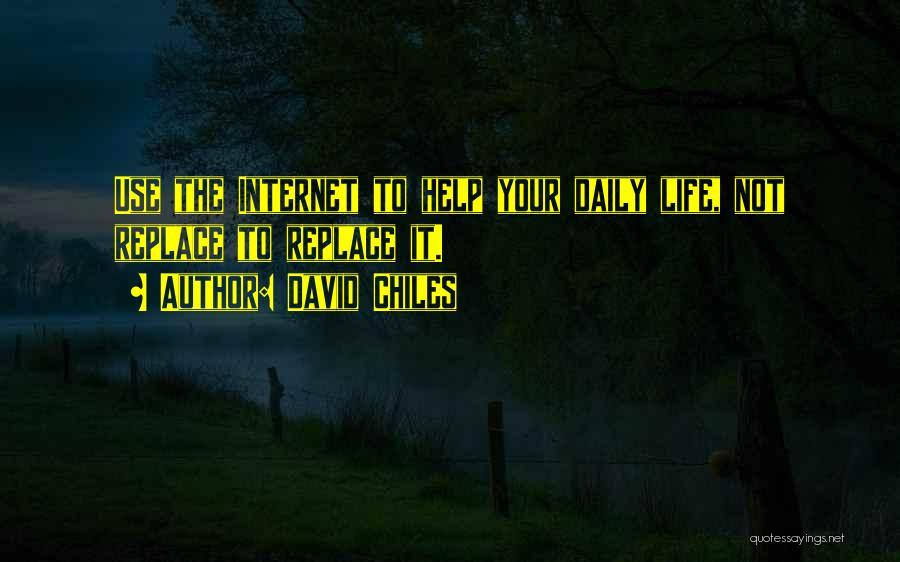 In Life Facebook Quotes By David Chiles